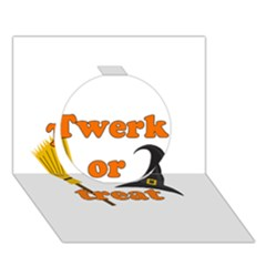 Twerk Or Treat   Funny Halloween Design Circle 3d Greeting Card (7x5)
