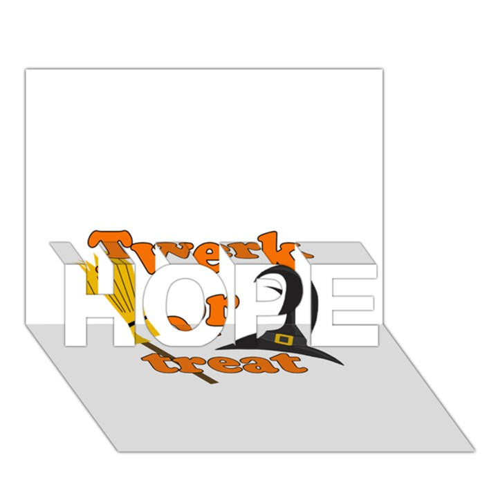 Twerk or treat - Funny Halloween design HOPE 3D Greeting Card (7x5)