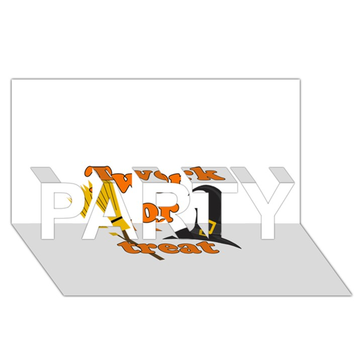 Twerk or treat - Funny Halloween design PARTY 3D Greeting Card (8x4)