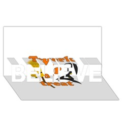 Twerk or treat - Funny Halloween design BELIEVE 3D Greeting Card (8x4)