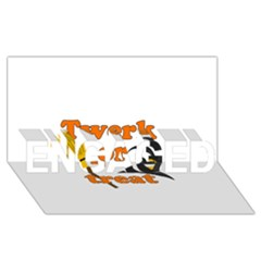 Twerk or treat - Funny Halloween design ENGAGED 3D Greeting Card (8x4)