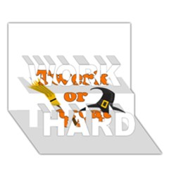 Twerk Or Treat   Funny Halloween Design Work Hard 3d Greeting Card (7x5)