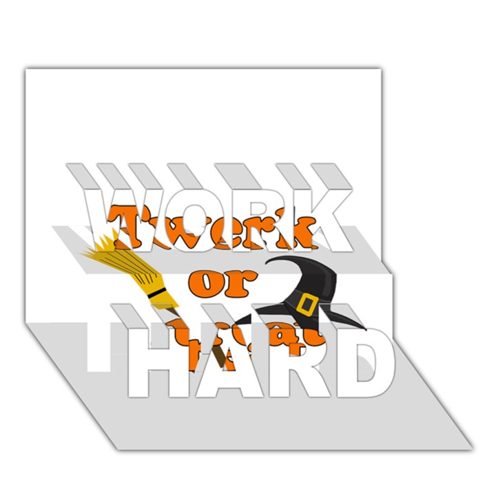 Twerk or treat - Funny Halloween design WORK HARD 3D Greeting Card (7x5)