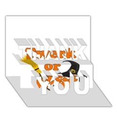 Twerk Or Treat   Funny Halloween Design Thank You 3d Greeting Card (7x5)