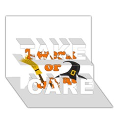 Twerk or treat - Funny Halloween design TAKE CARE 3D Greeting Card (7x5)