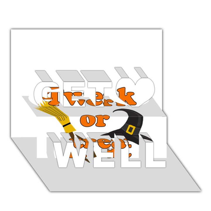 Twerk or treat - Funny Halloween design Get Well 3D Greeting Card (7x5)