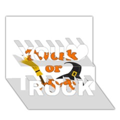Twerk Or Treat   Funny Halloween Design You Rock 3d Greeting Card (7x5)