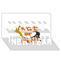 Twerk or treat - Funny Halloween design Happy New Year 3D Greeting Card (8x4)