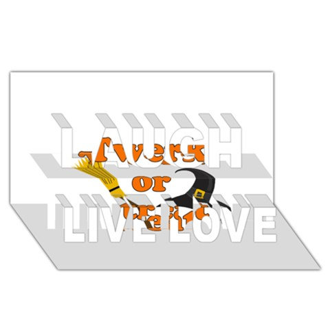 Twerk or treat - Funny Halloween design Laugh Live Love 3D Greeting Card (8x4)
