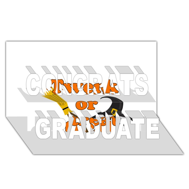 Twerk or treat - Funny Halloween design Congrats Graduate 3D Greeting Card (8x4)