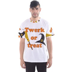 Twerk Or Treat   Funny Halloween Design Men s Sport Mesh Tee