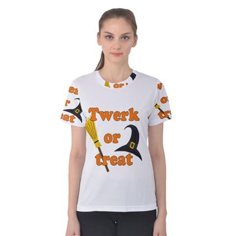 Twerk or treat - Funny Halloween design Women s Cotton Tee