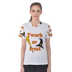 Twerk Or Treat   Funny Halloween Design Women s Cotton Tee