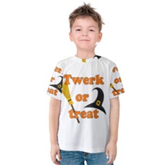 Twerk or treat - Funny Halloween design Kids  Cotton Tee