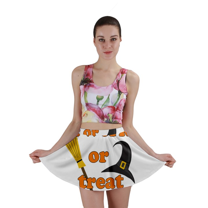 Twerk or treat - Funny Halloween design Mini Skirt