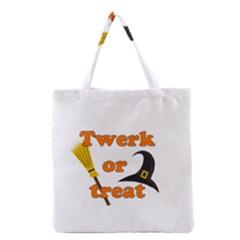 Twerk Or Treat   Funny Halloween Design Grocery Tote Bag