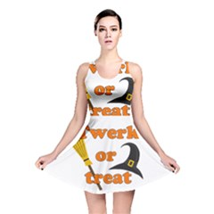 Twerk Or Treat   Funny Halloween Design Reversible Skater Dress