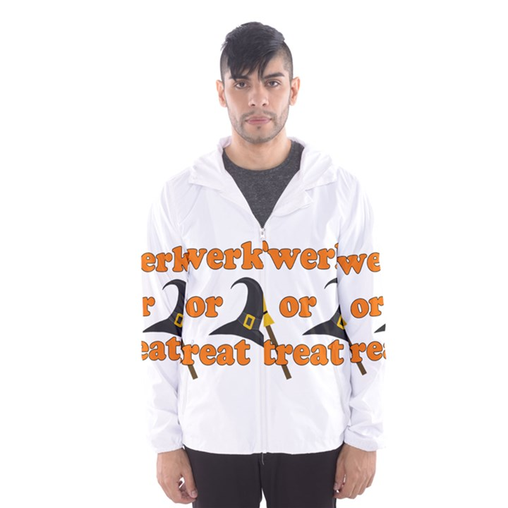 Twerk or treat - Funny Halloween design Hooded Wind Breaker (Men)