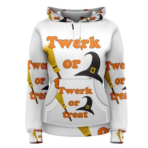 Twerk or treat - Funny Halloween design Women s Pullover Hoodie