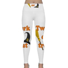 Twerk or treat - Funny Halloween design Yoga Leggings