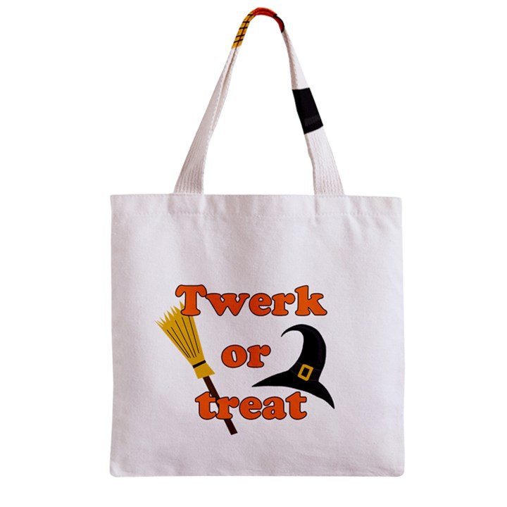 Twerk or treat - Funny Halloween design Zipper Grocery Tote Bag