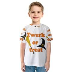 Twerk Or Treat   Funny Halloween Design Kids  Sport Mesh Tee