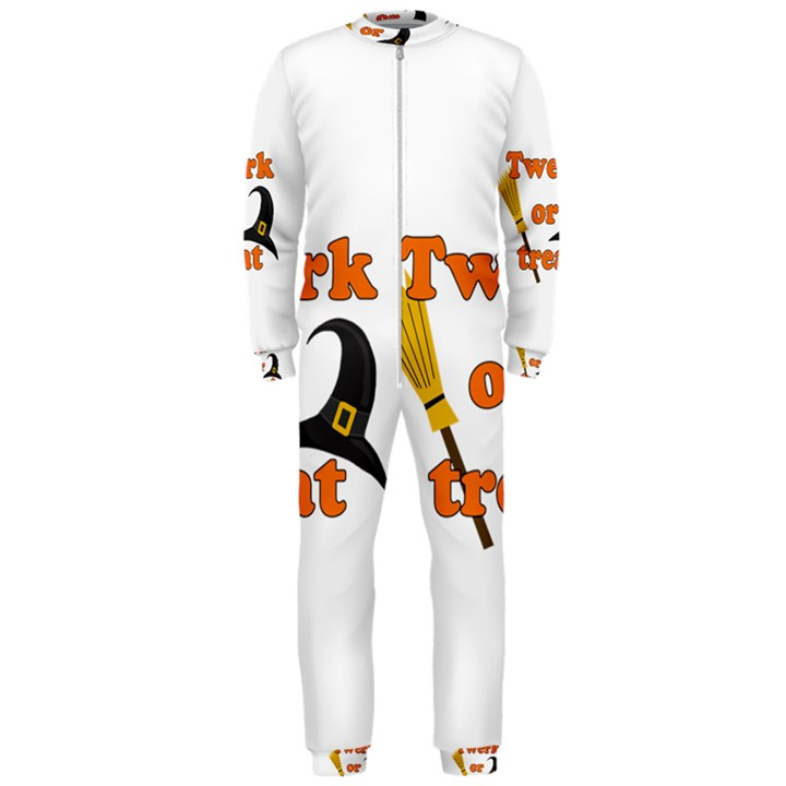 Twerk or treat - Funny Halloween design OnePiece Jumpsuit (Men)