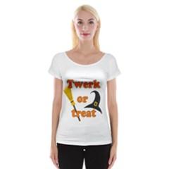 Twerk or treat - Funny Halloween design Women s Cap Sleeve Top