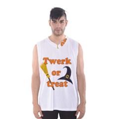 Twerk or treat - Funny Halloween design Men s Basketball Tank Top