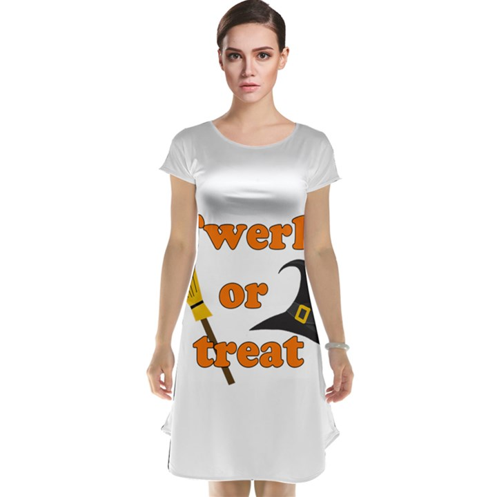 Twerk or treat - Funny Halloween design Cap Sleeve Nightdress