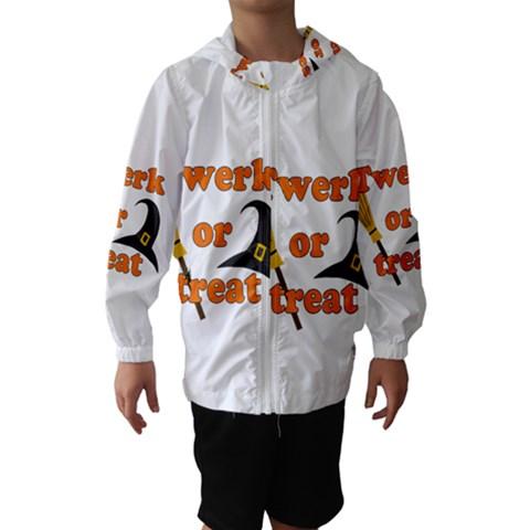 Twerk or treat - Funny Halloween design Hooded Wind Breaker (Kids)