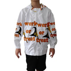 Twerk or treat - Funny Halloween design Hooded Wind Breaker (Kids)