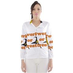 Twerk Or Treat   Funny Halloween Design Wind Breaker (women)