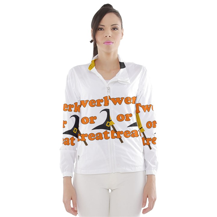 Twerk or treat - Funny Halloween design Wind Breaker (Women)