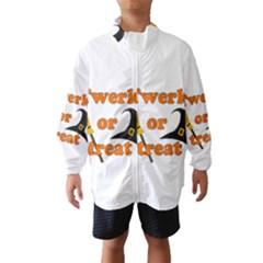 Twerk Or Treat   Funny Halloween Design Wind Breaker (kids)