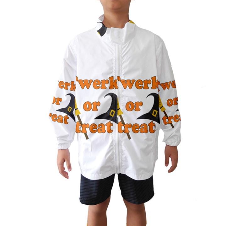 Twerk or treat - Funny Halloween design Wind Breaker (Kids)