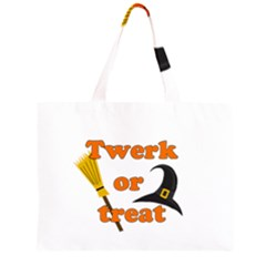 Twerk or treat - Funny Halloween design Large Tote Bag