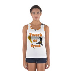 Twerk or treat - Funny Halloween design Women s Sport Tank Top