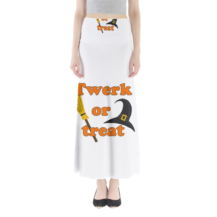Twerk or treat - Funny Halloween design Maxi Skirts