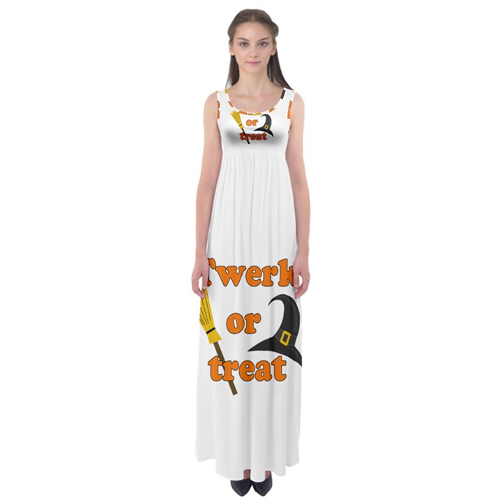 Twerk or treat - Funny Halloween design Empire Waist Maxi Dress