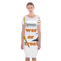 Twerk Or Treat   Funny Halloween Design Classic Short Sleeve Midi Dress
