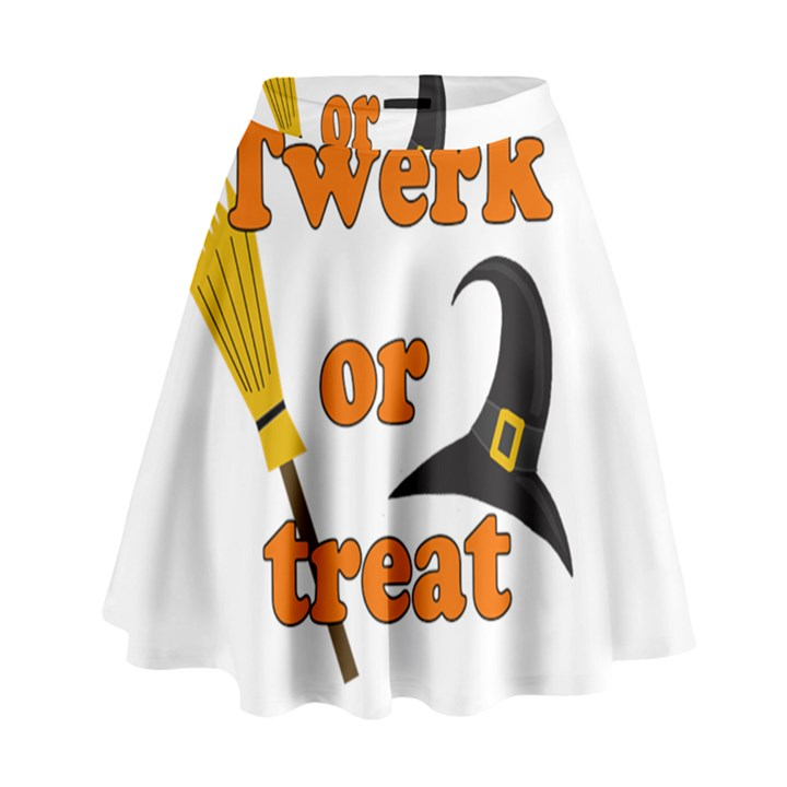 Twerk or treat - Funny Halloween design High Waist Skirt