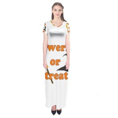 Twerk or treat - Funny Halloween design Short Sleeve Maxi Dress