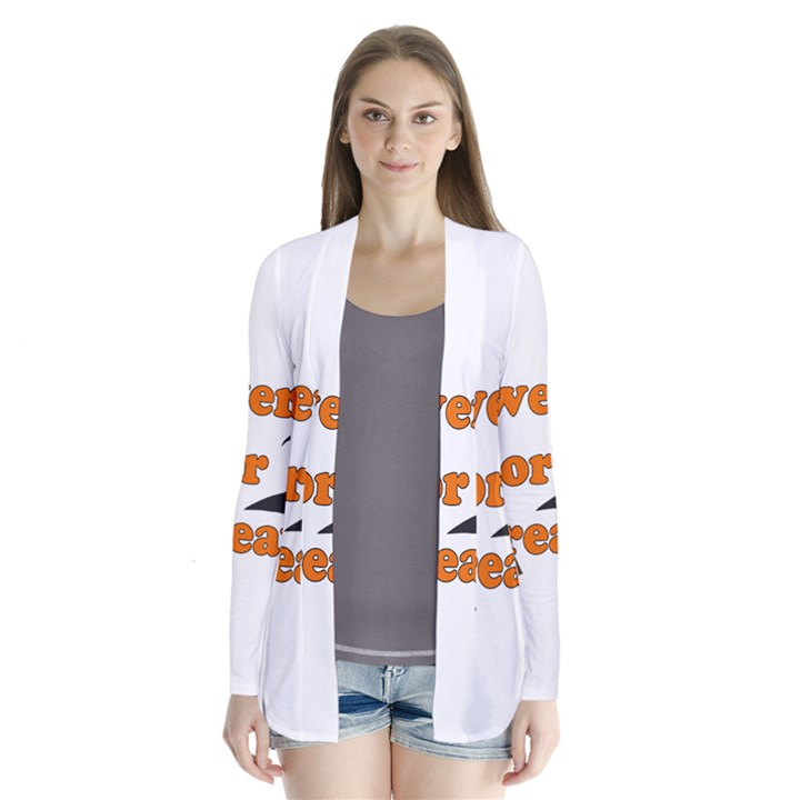 Twerk or treat - Funny Halloween design Drape Collar Cardigan