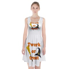 Twerk or treat - Funny Halloween design Racerback Midi Dress