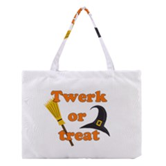 Twerk Or Treat   Funny Halloween Design Medium Tote Bag