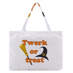 Twerk or treat - Funny Halloween design Medium Zipper Tote Bag