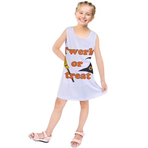 Twerk or treat - Funny Halloween design Kids  Tunic Dress