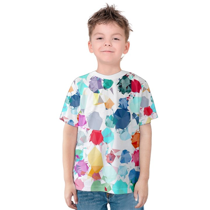 Colorful Diamonds Dream Kids  Cotton Tee