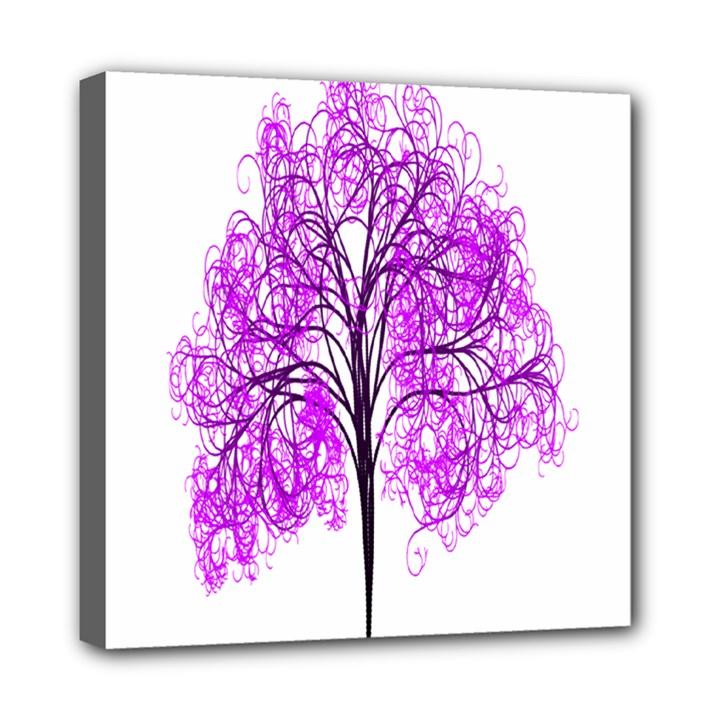 Purple Tree Mini Canvas 8  x 8